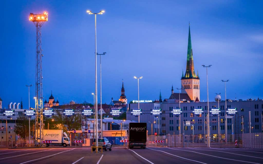 Ampron LED Message Boards as part of Smart Port Solution at Port of Tallinn