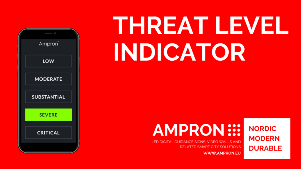 Ampron Emergency threat level indicator solution
