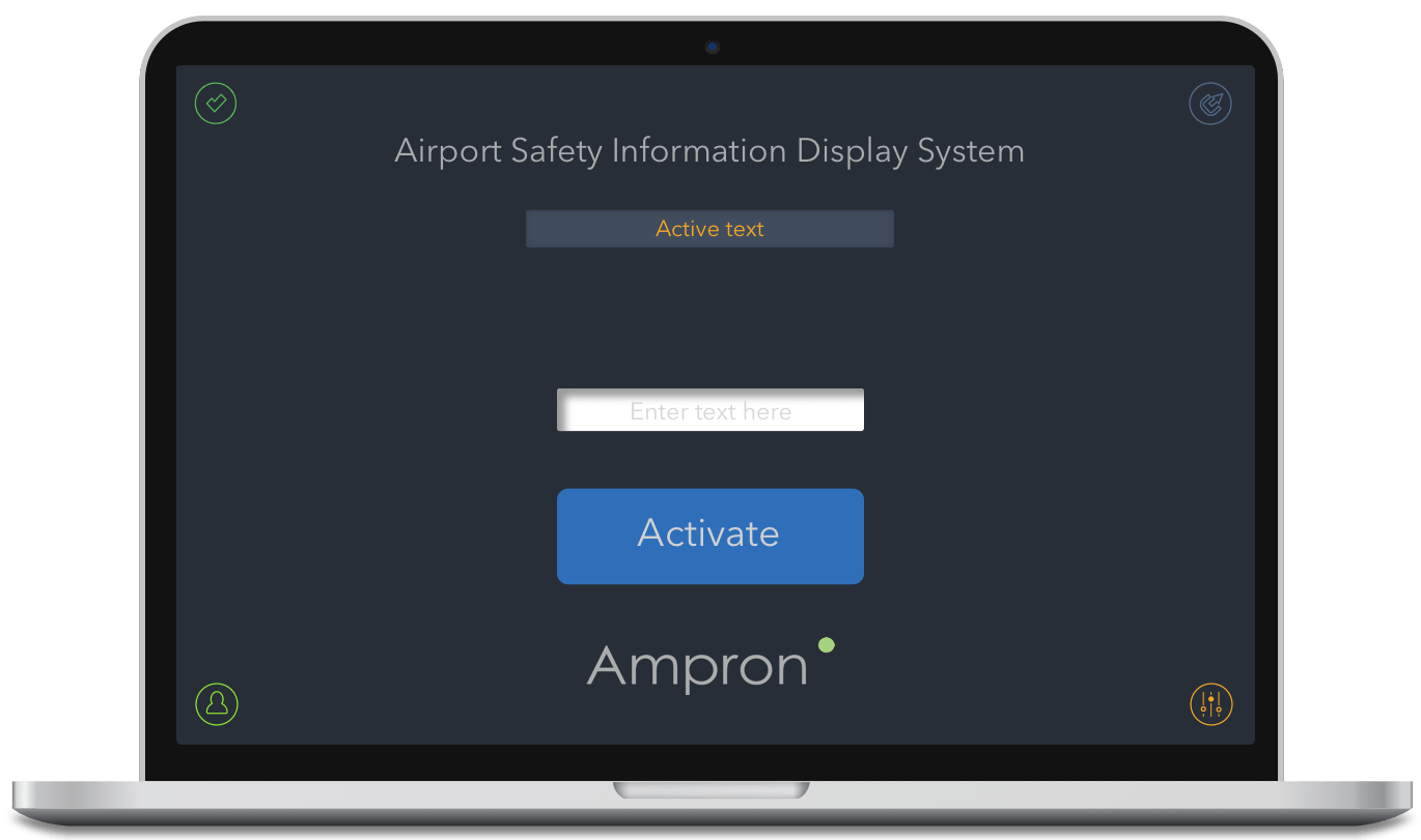 Apron Information and Warning Solution Mobile User Interface
