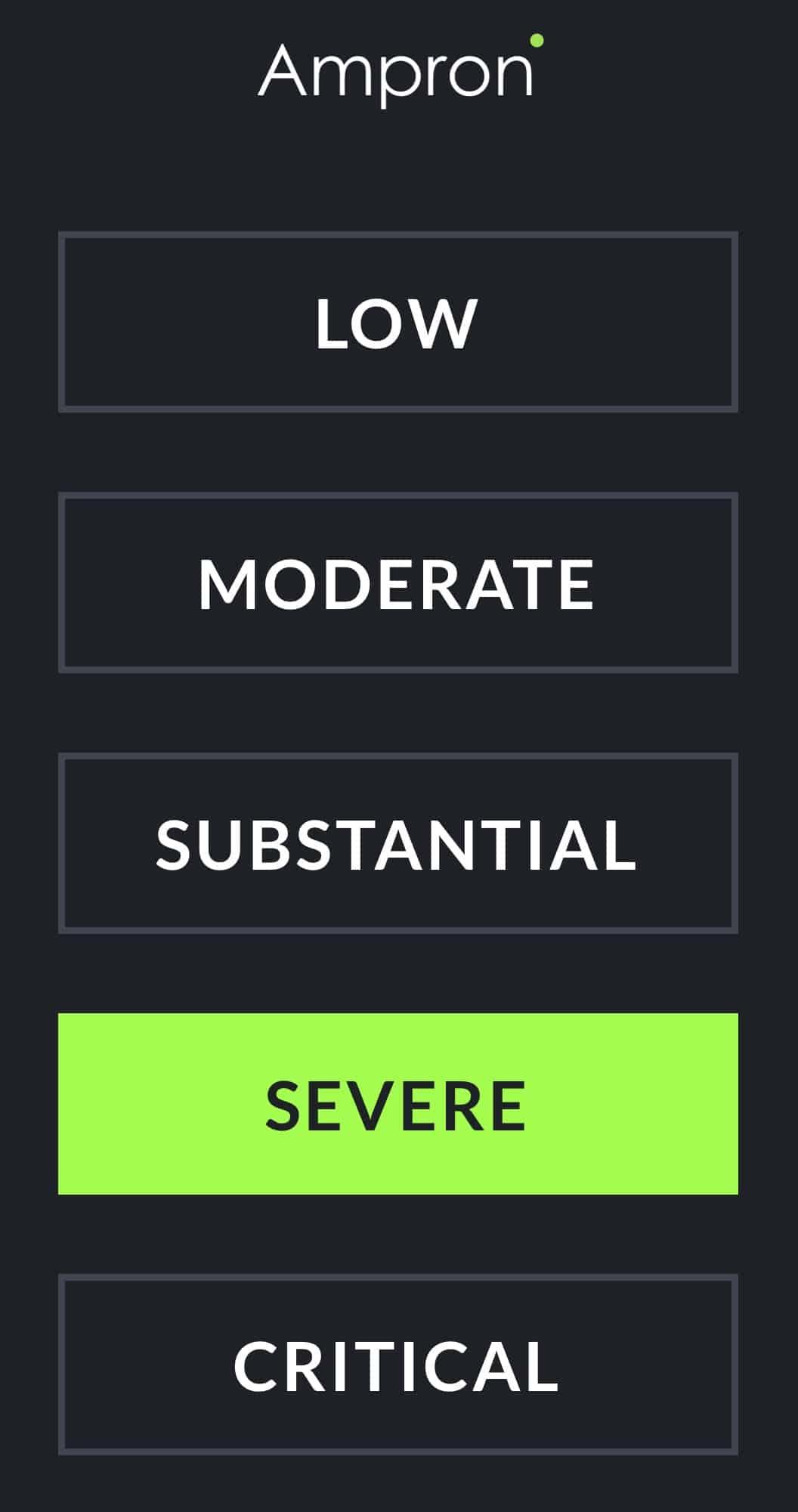 Ampron LED Message Board Threat Level Indicator Solution (UI) User Interface