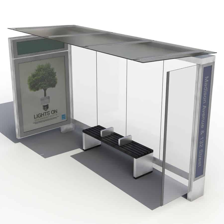 Intelligent Smart City Bus Shelter Solution for Urban Public Transport by Ampron - www.ampron.eu