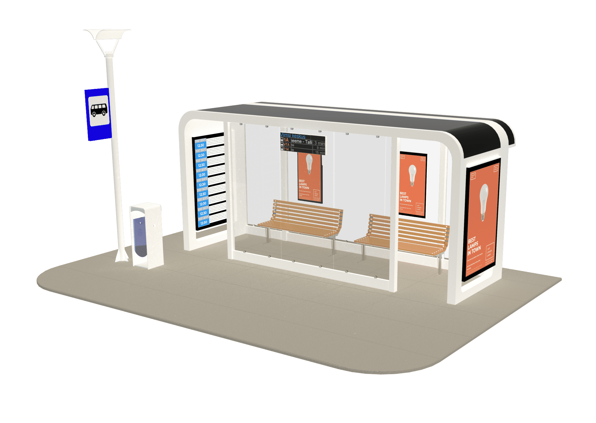 Ampron Smart City Bus Shelter Solution
