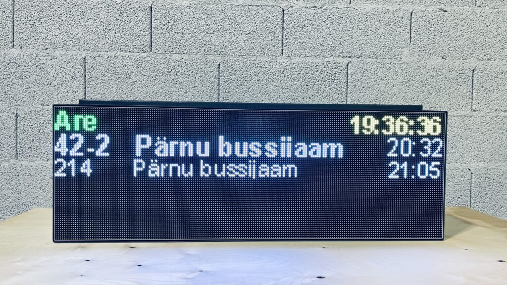 Bus Arrival LED Information Message Board