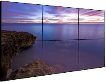 5.4 VIDEO WALL type LCD/TFT type displays (bezel 3,5 mm) 2x3x55""
